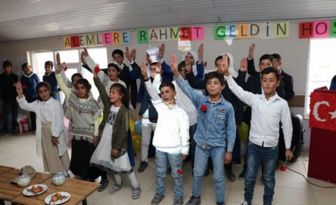 Köy Öğrencilerinden Mevlid-i Nebi Programı