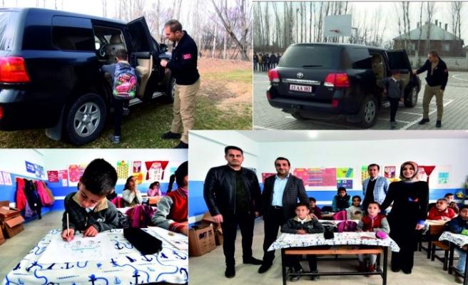 Köy Öğrencisinin Makam Aracına Binme Hayalini Kaymakam Gerçekleştirdi