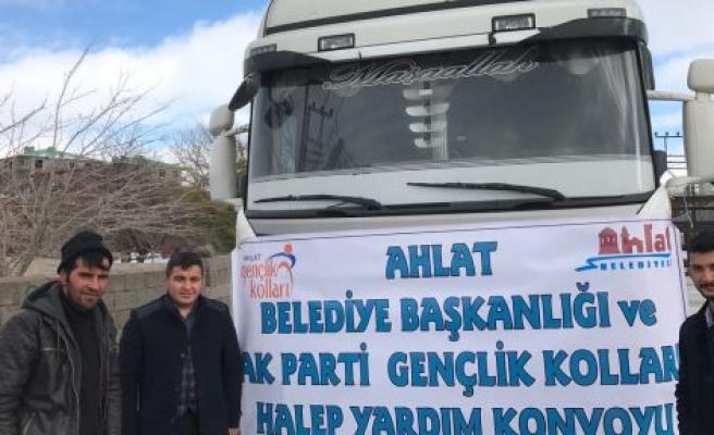AK PARTİ AHLAT GENÇLİK KOLLARINDAN HALEP'E YARDIM