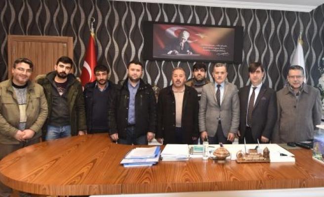 BAYGADER'DEN  İL ÖZEL İDARESİ GENEL SEKRETERİ AYDOĞDU'YA ZİYARET
