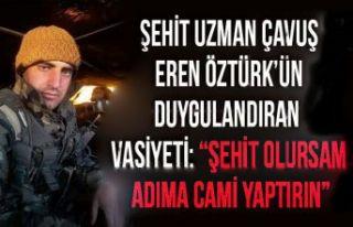 Şehit Uzman Çavuş Eren Öztürk'ün Duygulandıran...