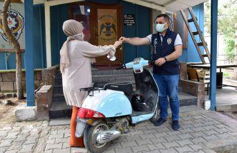 Ahlat'ta Çalınan Motosiklet Bulanık'ta Bulundu